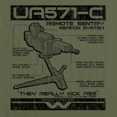 aliens sentry gun